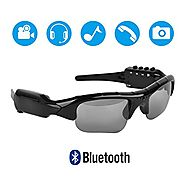 5M Pixels Bluetooth Sunglasses with Camera 1080P Support Micro SD Card Expandable to 32GB With MP3 + Bluetooth + Came...