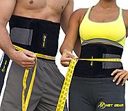 "HBT GEAR Waist Trimmer Weight Loss Ab Belt Sauna Waist Trainer - Sweat Band - ebook ""Lifestyle Diet Makeover"""