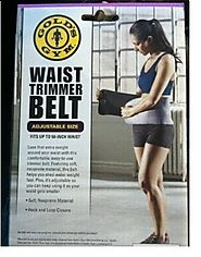 Golds Gym waist trimmer belt - Adjustable size fits up to 50 inch waist trims...