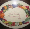 Thanksgiving Prayer - A Family Tradition