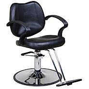 "Icarus ""Mae"" Black Classic Beauty Salon Hydraulic Styling Chair"