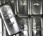 Silver futures prices slightly high on spot demand