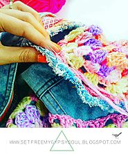 Fringed Crochet Denim Jacket Refashion | Fashion DIY Tutorial + Free Crochet Pattern