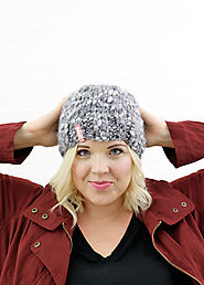 Simple Thick and Thin Knit Hat - Free Pattern - Persia Lou