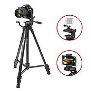 Tripod iKross 61-inch Professional DSLR Camera Light Weight Aluminum Tripod with Universal Smartphone Mount Adapters ...