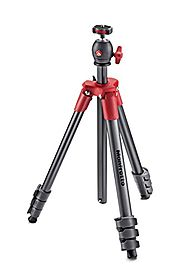 Manfrotto MKCOMPACTLT-RD Compact Tripod (Red)