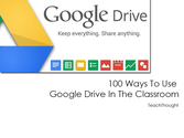 100 Ways To Use Google Drive In The Classroom