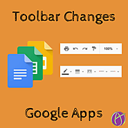 Google Apps: New Toolbar Icons - Teacher Tech