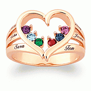 Mothers Ring with Birthstones and Names