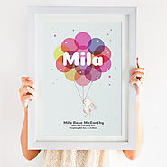 This beautiful Personalised Christening Print for Girls & Boys would make a perfect gift for a newborn, christening o...