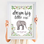 Dream big little one – an inspiring print to add personality to any nursery