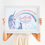 This personalised unicorn print gift idea certainly has the wow factor