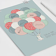 What better way to commemorate a beautiful baby shower than with a keepsake guestbook!