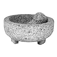 Vasconia 4-Cup Granite Molcajete Mortar and Pestle