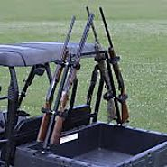 Great Day Sporting Clays UTV Gun Rack Model QD804SC It attaches securely to the sides of the cargo bed with use of la...