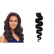 30 Inches Long Body Wave Color 1B Indian Weave