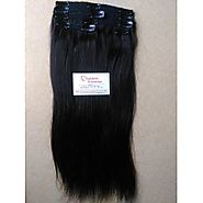 Raw Temple Indian Natural Human Hair Clip In Extension