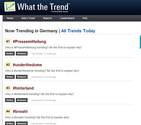 Now Trending | WhatTheTrend - popular twitter trends