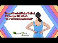 Does Herbal Pain Relief Massage Oil Work to Prevent Backache