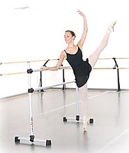 Vita Vibe BD48 Prodigy Series Portable Double Freestanding Ballet Barre, Stretch/Dance Bar, 4-Feet