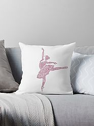 'Ballet Dance - Designer Art' Throw Pillow by ballet-gift
