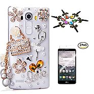 LG Stylo 2 V Case, STENES 3D Handmade Luxury Crystal Sparkle Rhinestone Cover for LG G Stylo 2 /G Stylo 2 Plus with S...