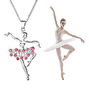 YILIN Little Girl Necklace Dancer Ballet Recital Gift Ballerina Dance Necklaces Teen Girls Jewelry (Pink)