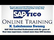 SAP FICO Online Training By The experienced Tutor
