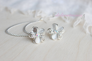 Flower Stud Chain Cartilage Earring / Cartilage Piercing