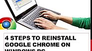 4 Steps to Reinstall Google Chrome on Windows