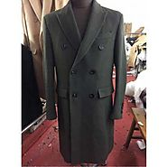 Fashionable And Classic Double Breasted Overcoat For Mens