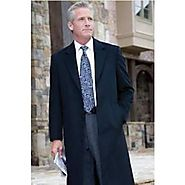 Get Royal Look With Navy Blue Overcoat