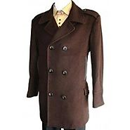 Elegant & Fashionable Double Breasted Wool Coat For Mens