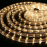 "WYZworks 150 feet 1/2"" Thick WARM WHITE Pre-Assembled LED Rope Lights with 10', 25', 50', 100' option - Christmas Hol..."
