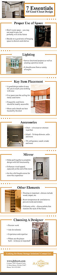 Infographics – 7 Elements To Consider When Planning A Custom Closet