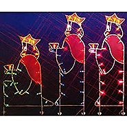 Northlight Seasonal 31082803 Three Wisemen Nativity Silhouette Lighted Wire Frame Christmas Yard Art
