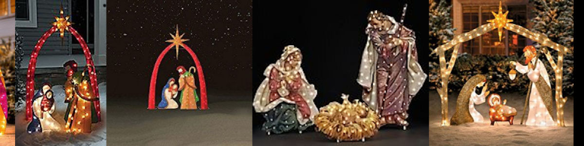 Headline for Nativity Set Outdoors Lighted