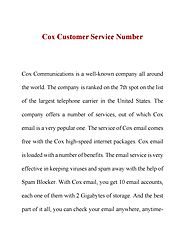 Cox customer service number