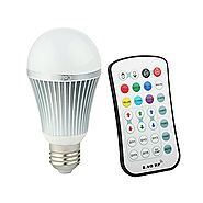 Coidak E26 RGB+W LED Color Changing Light Bulb with 2.4G RF Wireless Remote Controll (Not IR), Pure White, Dimmable A...
