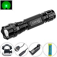 Comunite Portable Cree 1000LM LED Flashlight Hunting Fishing Light Torch Set with Scope Gun Mount and Remote Pressure...