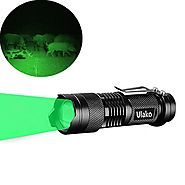 Ulako Single 1 Mode Zoomable LED 150 Yard Green Light Flashlight Torch For Fishing Hunting Detector
