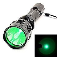 z-z@ Waterproof HS-802 350 Lumens Led Flashlight 250 Yard Long Range Hunting Light Coyote Hog Hunting Flashlight Ligh...