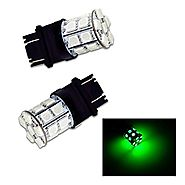 PA 2pcs 3157 3156 3457A 20 SMD LED Auto Stop Light/ Tail Light / Turn Signal Light Bulbs Green-12V