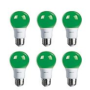Philips LED Green Bulb 6 Pack, 60 Watt Equivalent, A19 Non Dimmable, Medium Screw Base
