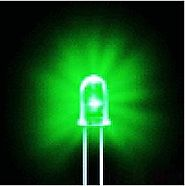 Bluecell 50 PCS Green LED Electronics 5mm Bulb light