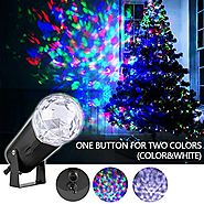 Gemtune Christmas Light Projector LED Patio Lawn light with Flame Pattern, Indoor and Outdoor Waterproof Spotlight Wa...