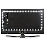 Luminoodle USB Bias Lighting - LED TV Backlight Strip - True White Ambient Home Theater Light, TV Accent Lighting to ...