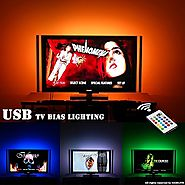 USB LED TV Backlight Bias Lighting For 60 65 70 Inch Behind TV LED Lighting,USB LED Strip Lights With Remote For TV, ...