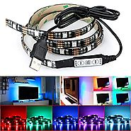 DeepDream LED Strip TV Backlight Bias Lighting 4.9ft 5050 45Leds 5V USB Powered Mini Controller for HDTV, Flat Screen...