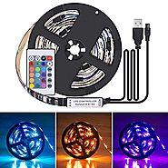Boomile LED TV Backlight Strip Bias Lighting, 6.56Ft/2M 60Leds Flexible 5050 RGB USB LED Light Strip, TV Background L...